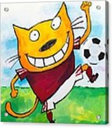 Soccer Cat 2 Acrylic Print by Scott Nelson