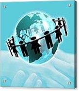 Social Networking, Conceptual Artwork Acrylic Print