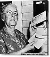 Social Security, 1940 Acrylic Print