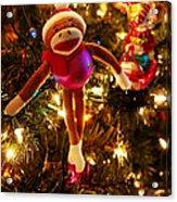 Sock Monkey Is In The Season Acrylic Print