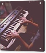 Sofi En El Piano. #piano #music Acrylic Print