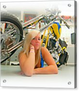 Soft N Sweet Harley Chopper  Acrylic Print