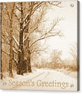 Soft Sepia Season's Greetings Acrylic Print