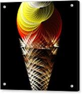 Soft Serve Ice Cream Citrus Swirl Acrylic Print