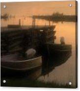 soft sunset on Myles Bay Acrylic Print