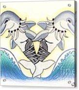 Soga'imiti Dolphins Acrylic Print