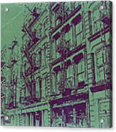 Soho New York Acrylic Print by Naxart Studio