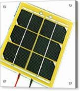 Solar Cell Acrylic Print by Friedrich Saurer