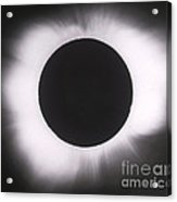 Solar Eclipse With Outer Corona Acrylic Print