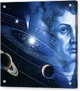 Solar System And Nicolaus Copernicus Acrylic Print