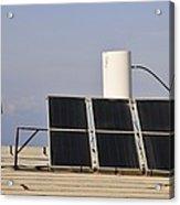 Solar Water Heater Acrylic Print