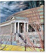 Solarized Stadium Acrylic Print by David Bearden