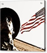 Soldier And Flag Acrylic Print