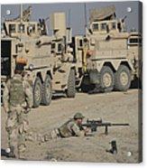 Soldier Fires A Barrett M82a1 Rifle Acrylic Print