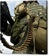 Soldier Mans A Vehicle Mounted 7.62 Mm Acrylic Print by Stocktrek Images