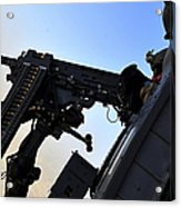 Soldier Mans The .50 Caliber Machine Acrylic Print