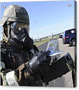 Soldier Uses An M256 Kit To Identify Acrylic Print