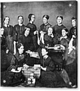 Soldiers Aid Society, 1863 Acrylic Print