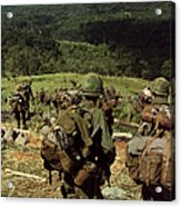 Soldiers Descend The Side Of Hill 742 Acrylic Print