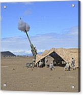 Soldiers Execute A High Angle Fire Acrylic Print