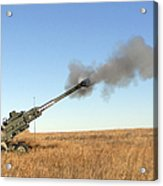 Soldiers Fire A 155mm M777 Lightweight Acrylic Print