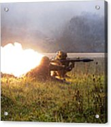 Soldiers Fire A Rocket Propelled Acrylic Print