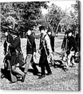 Soldiers March Black And White Acrylic Print