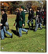 Soldiers March Two By Two Acrylic Print