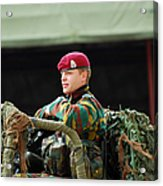 Soldiers Of A Belgian Recce Or Scout Acrylic Print