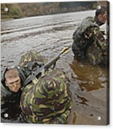 Soldiers Participate In A River Acrylic Print