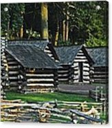 Soldiers Quarters At Valley Forge Acrylic Print