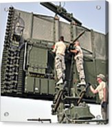 Soldiers Set Up A Tps-75 Radar Acrylic Print