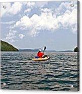 Solitary Man In Kayak Acrylic Print