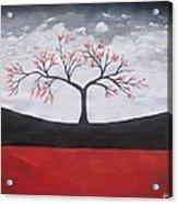 Solitary Tree-oil Painting Acrylic Print by Rejeena Niaz