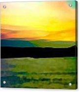 Son Parc Sunset Acrylic Print