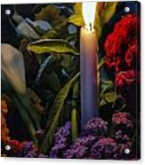 Soothing Candle Light Acrylic Print