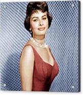 Sophia Loren, Ca. 1950s Acrylic Print by Everett