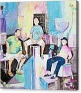 Sorrento Dock Acrylic Print by Regina Ammerman