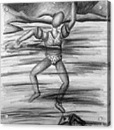 S.o.s. Sinking Or Swimming Acrylic Print
