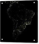 South America At Night Acrylic Print