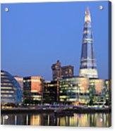 South Bank Of The River Thames, London Acrylic Print