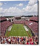 South Carolina View From The Endzone At Williams Brice Stadium Acrylic Print by Replay Photos