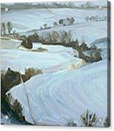 South Limburg Covered With Snow Acrylic Print