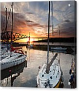 South Queensferry Harbour Acrylic Print