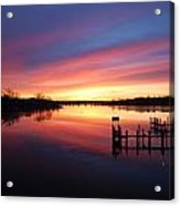 South River Sunrise Acrylic Print