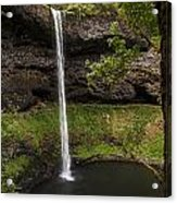 South Silver Falls Into The Pool Acrylic Print
