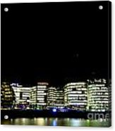 Southbank View Across The River Thames Acrylic Print