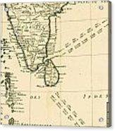 Southern India And Ceylon Acrylic Print