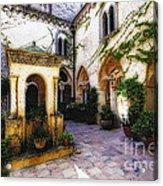 Southern Italy Villa Courtyard  Acrylic Print