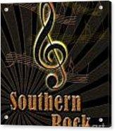 Southern Rock Music Poster Acrylic Print